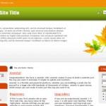 Nature Free Joomla 1.6 Theme