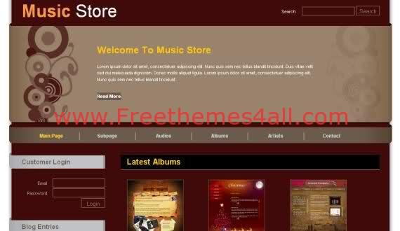 Music Store CSS Template