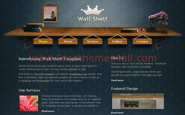 Free Wood Patterns Blue CSS Website Template