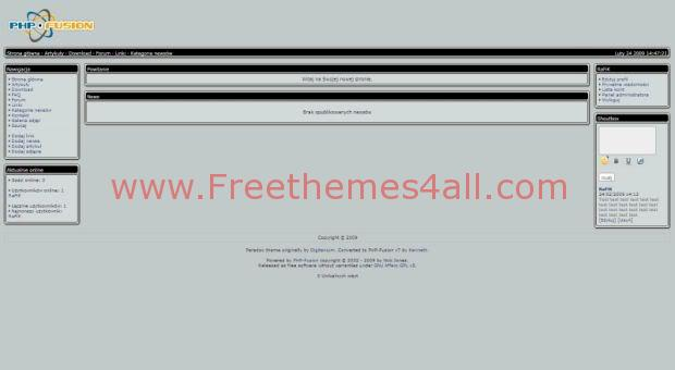 Free php-fusion 7 Grey Web2.0 Theme Template