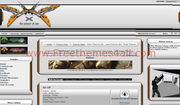 Orange Silver Free Phpnuke Theme