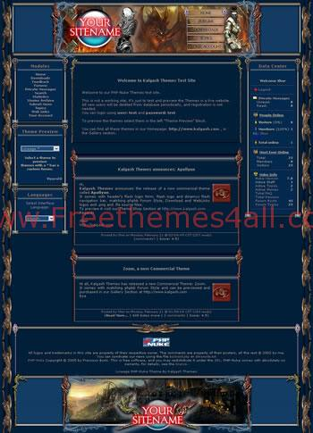 Free Phpnuke Anime Games Website Theme