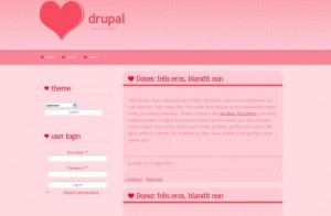 Pink Drupal Theme Template Download