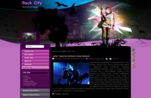 Pink Rock Music Joomla Flash Theme