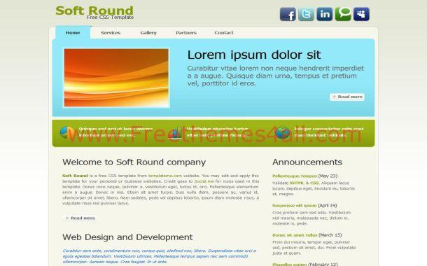 Free Portfolio Blue Green CSS Website Template