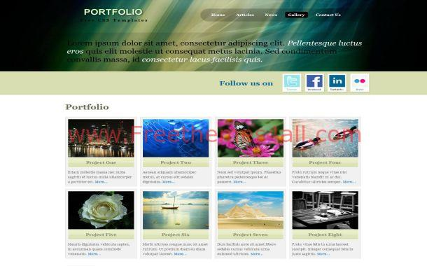 Green Jquery Portfolio Free Website Template