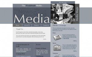 Media Blue Newspaper CSS Template