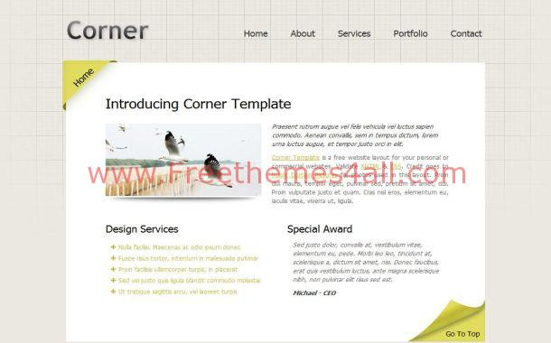 Professional Business Blog Web Template