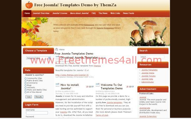 Orange Pumpkin Joomla Theme
