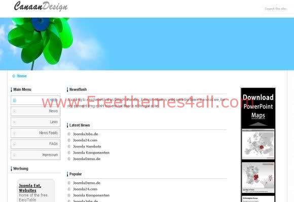 Sky Flowers Nature Joomla Template