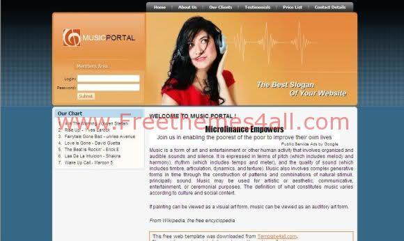 Free CSS Sexy Design Music Website Template