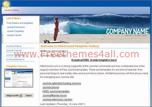 Free Joomla Summer Travel Web2.0 Template
