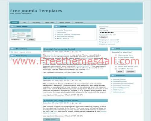 Free Joomla Soft Blue Business Web2.0 Template