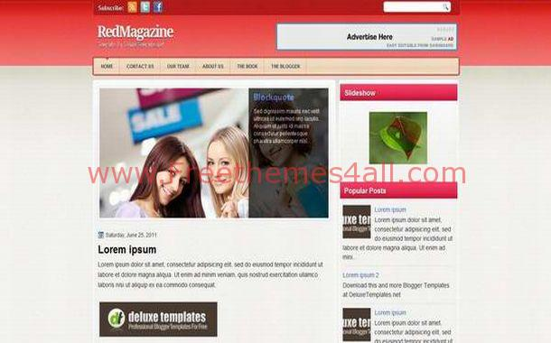 Free Drk Grey Red News Jquery WordPress Theme