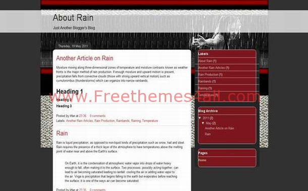 Free Games Red Black Blogger Theme Template