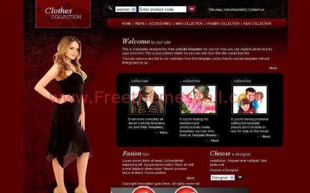 Dark Red Fashion CSS Template