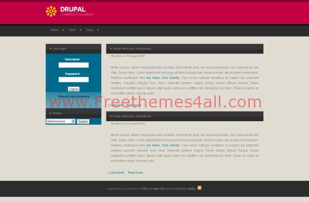 Grey Corporate Business Free Drupal Theme