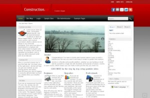 Red Gray Business Free Joomla Theme