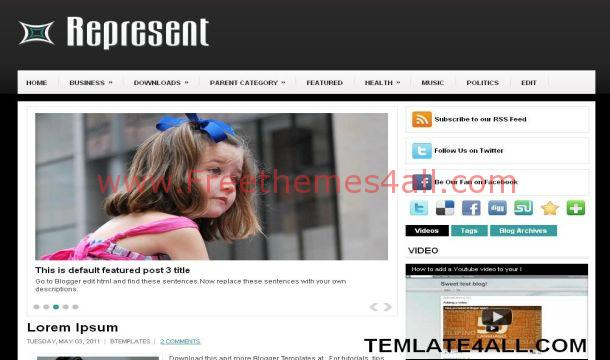 Free Magazine Black White Blogger Template