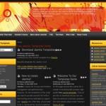 Retro Black Orange Joomla Theme
