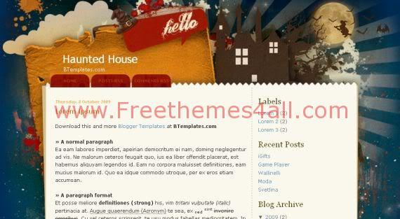 Retro Blue Christmas Blogger Theme