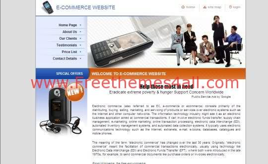 Free Online Mobiles Technology Store Template