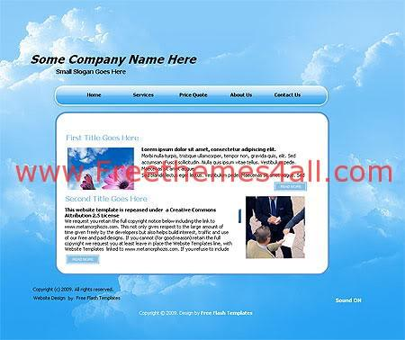 Free Flash Business Company Blue Template