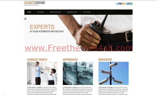 Free HTML Security Services Website Template