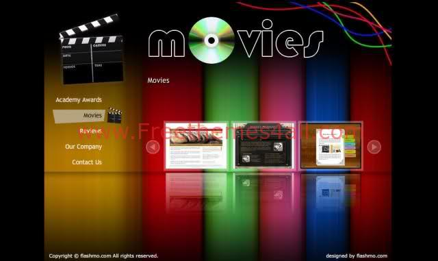 Free Flash Movies Cinema Website Template