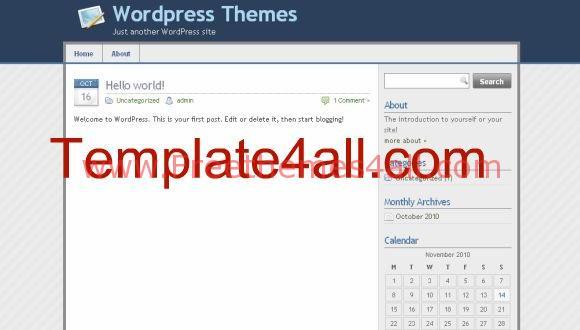 Free Simple Blue Web2.0 Design WordPress Theme