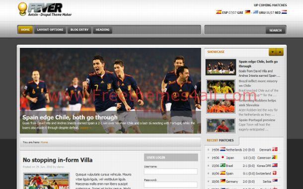 jQuey Grey Soccer Drupal Theme