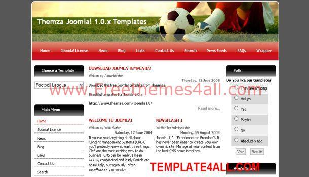Free Football Soccer Joomla Template