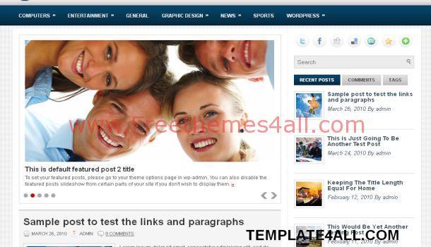 Business Magazine Blue WordPress Theme