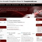 Black Red Space Free Joomla Theme