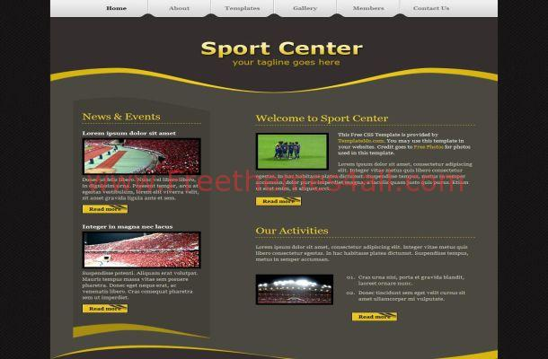Yellow CSS Brown Template