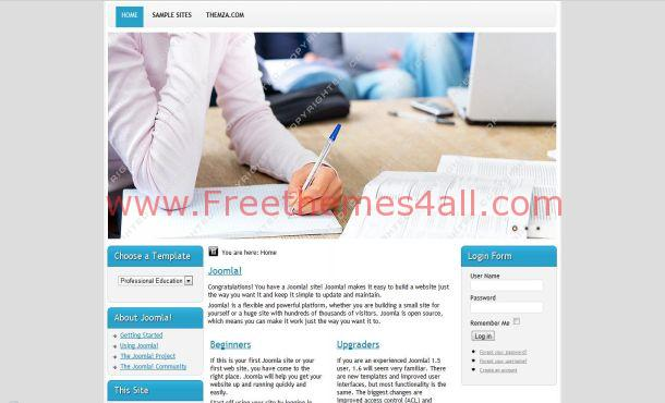Blue Studies Joomla Template