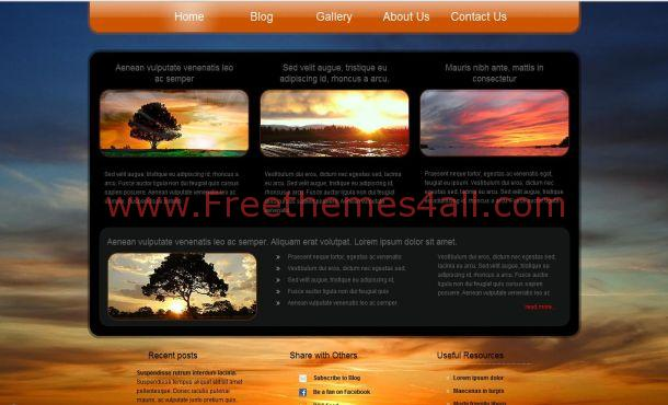 Sunset Jquery Free CSS Website Template
