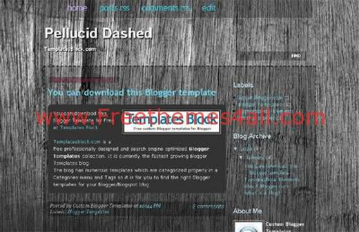 Free Blogger Pellucid Dashed Wood Template