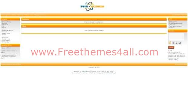 Free php-fusion White Orange Simple Web2.0 Theme