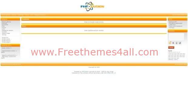 Free php-fusion White Orange Simple Web2.0 Theme