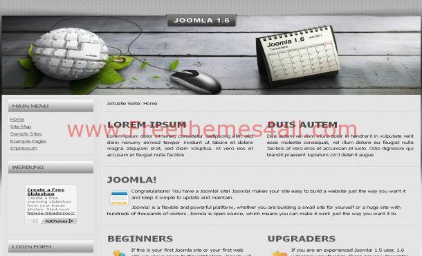 Free Silver Grunge High-Tech Joomla Template