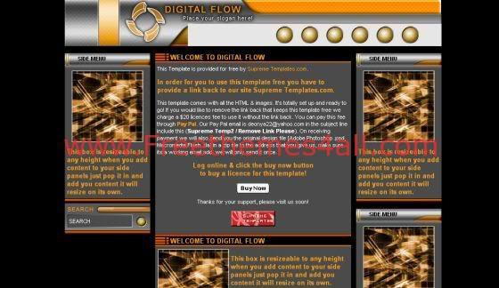 Free HTML Orange Technology Business Template