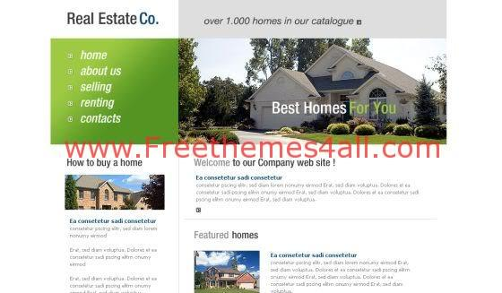 Free Green Real Estate Flash Template