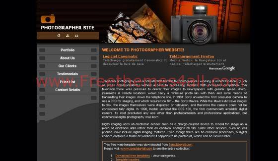Free CSS Beach Sunset Web2.0 Website Template