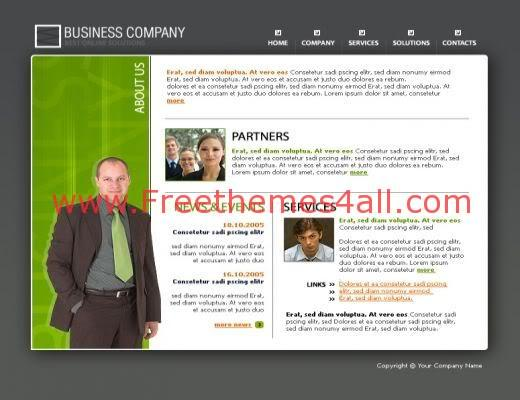 Free Flash Business Green Web2.0 Template
