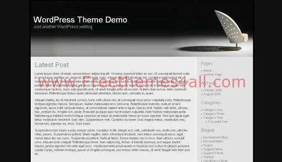 Free WordPress Modern Furniture Shop Black Theme