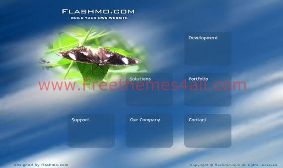 Free Flash Clouds Blue Nature Web2.0 Template