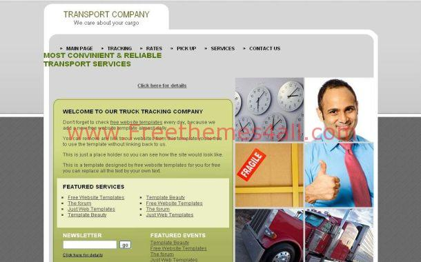 Free Business Transport CSS Website Template