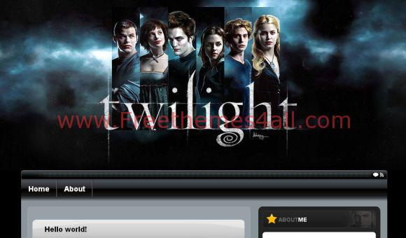 Free WordPress Twilight Movie Black Theme