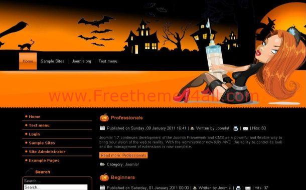 Free Dark Black Halloween Wordpress Theme Download - Complete website templates free download